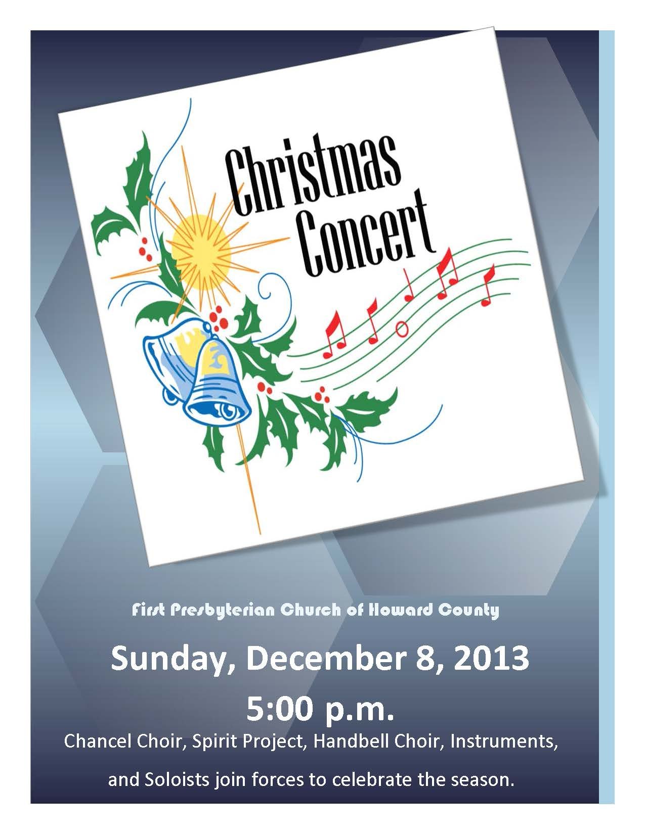 Christmas Concert Poster 2013