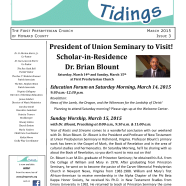 Tidings March 2015